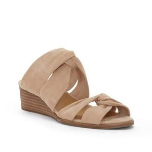 Lucky Brand | Rhilley Suede Slip On Wedge Sandals